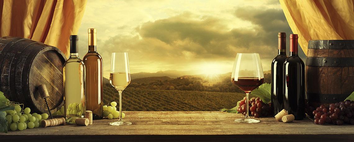 imagen de dos copas de vino, servicio de taxi en la ribera de duero